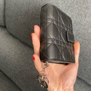 Lady Dior Eden Wallet Black